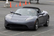 driving a Tesla Roadster